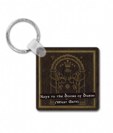 Lord of the Rings & Hobbit Inspired - Keys to the Door of Durin - West Gate Square Keyring